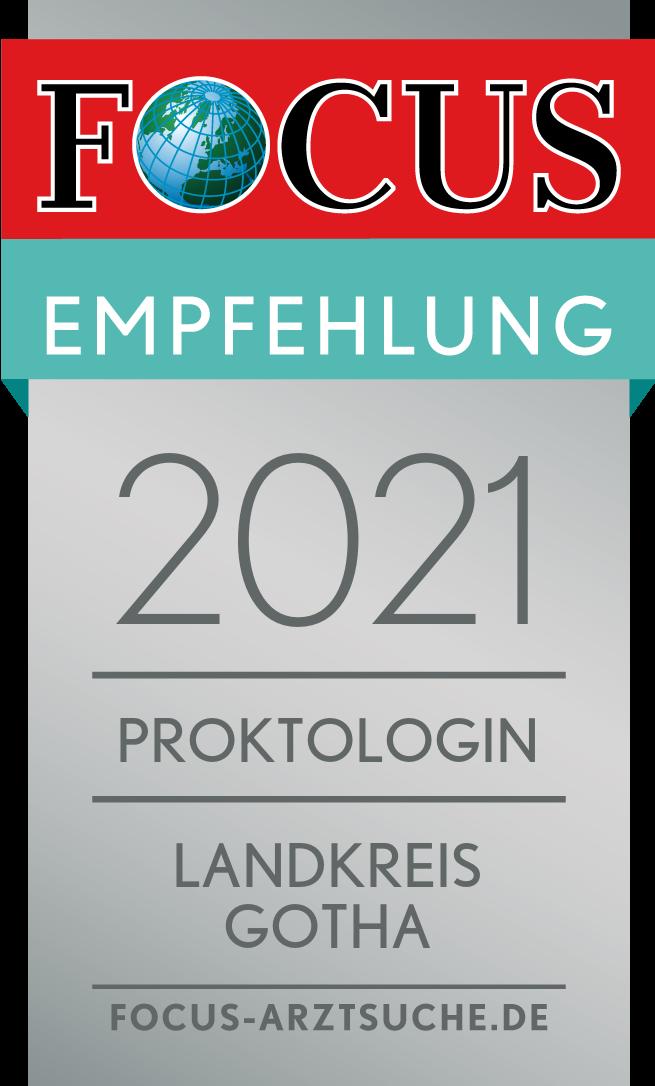 Focus Empfehlung – 2021 Proktologin Landkreis Gotha