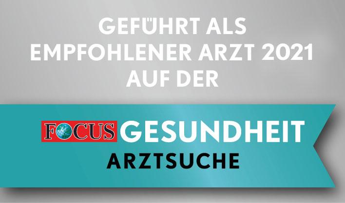 Focus Gesundheit Arztsuche – Empfohlene Ärztin 2021